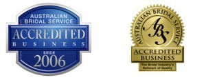 Australian bridal service accreditation badges